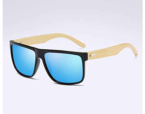 black blue Sunglasses dans lunettes de bois hommes de le soleil TL bois de des Bambou polarisées 6SZqnXdB