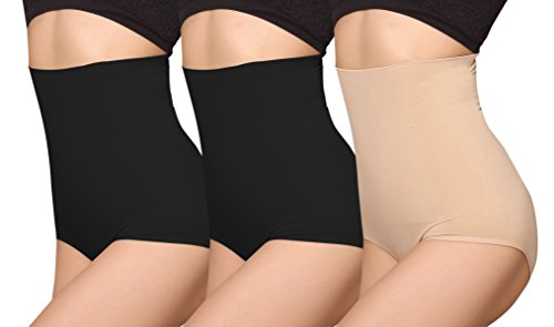 - iLoveSIA Women's C-Section Recovery Slimming Underwear Tummy Control Panties 2Black+Nude Size M