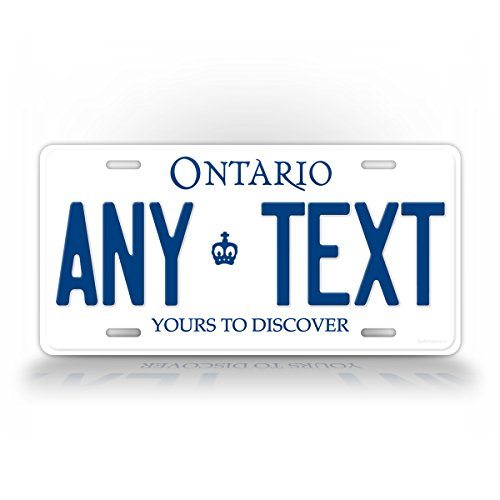 da License Plate CA Aluminum Auto Tag CUSTOMIZED Personalized text (Ontario Car License Plate)
