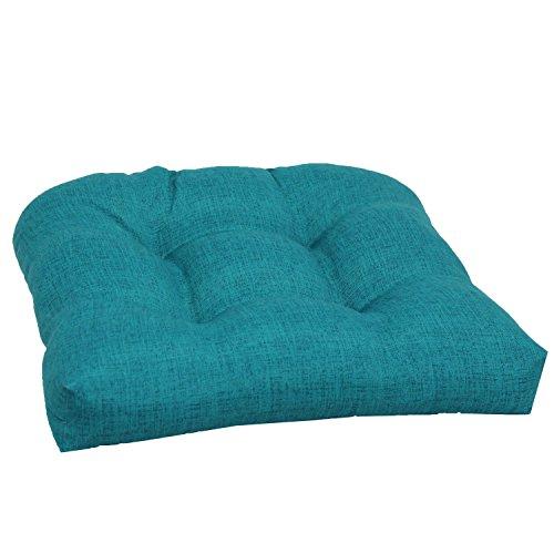 Brentwood Originals 35406 Indoor/Outdoor Wicker Chair Cushion, Linen TURQUOISE