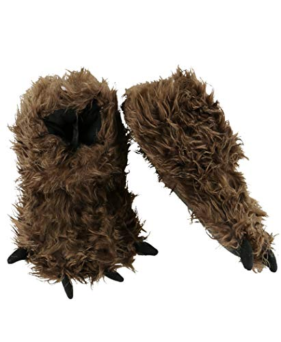 Bigfoot Paw Animal Paw Slippers for Kids and Adults by LazyOne | Fun Fuzzy Costume Footwear (Medium)
