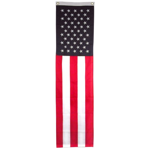 Online Stores US Flag Pulldown Brand-20inch x 8ft-Sewn Polyester, Red, White, Blue