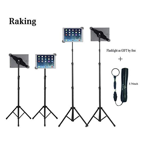 (Raking Foldable Floor Ipad Tablet Tripod Stand Mount Case for Ipad,Ipad Mini (10-14 Inch Ipad Tripod) )