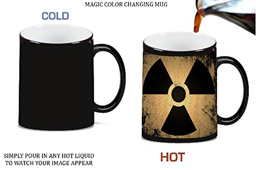 (Bio Hazard Grunge Vintage Black Magic Color Morphing Ceramic Coffee Mug Tea Cup by Moonlight Printing)