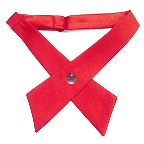 Band Uniform Accessories (Zhengpin 8 Colors Boys Girls Adjustable Criss-Cross Tie School Uniform Party Neck Tie Cross Tie)