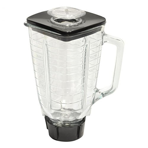 Oster Blender Replacement Jar - Brentwood P-OST722 Replacement Glass Jar Set, Oster Blender Compatible, 0.33 Gallon Capacity