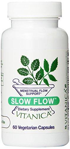 Flow 60 Capsules (Vitanica Slow Flow, Mentrual Flow Support,  60)
