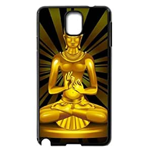 Personalized Samsung Galaxy Note 3 N9000 Cover Case, Golden Buddha quote DIY Cell Phone Case