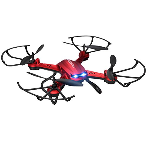 Drone with Camera, Potensic F181DH 5.8GHz RC Drone Quadcopter With 720P HD Live Camera RTF Altitude Hold UFO & Newest Hover Function(Red)