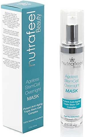 Stem Cell Overnight Mask by Nutrafeel | Ageless Anti-Aging Mask with ACAI | Chinese Basil | White Oak | Castor Oil | Ginseng | Honey | Reduces Wrinkles, Face Lines | Restores Skin Youth & Elasticity!