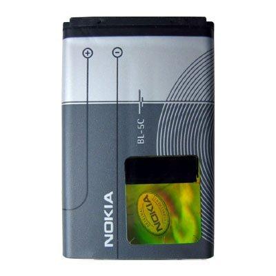 Original Nokia baterí a de repuesto BL-5 C para Nokia 1100/1101/1110/1110i/1112/1600/2300/2310/2600/2610/2626/3100/3120/3650/3660/6030/6085/6086/6230/6230i/6270/6600/6630/6670/6680/6681/6820/6822/7600/7610/E50/E60/N70/N71/N72/N91/N-Gage 63562