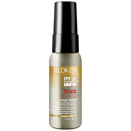 Redken Frizz Dismiss Instant Deflate Leave-In Smoothing Oil Serum - 1oz