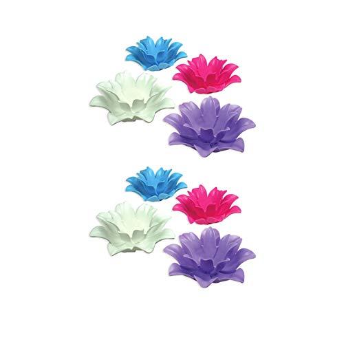 Poolmaster 9.75 Inch Floating Lotus Blooms Flower Swimming Pool Lights (8 Pack)