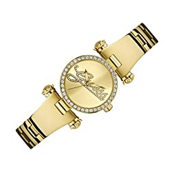 Guess W0287L2 mm Gold Steel Bracelet & Case Mineral Women's Watch