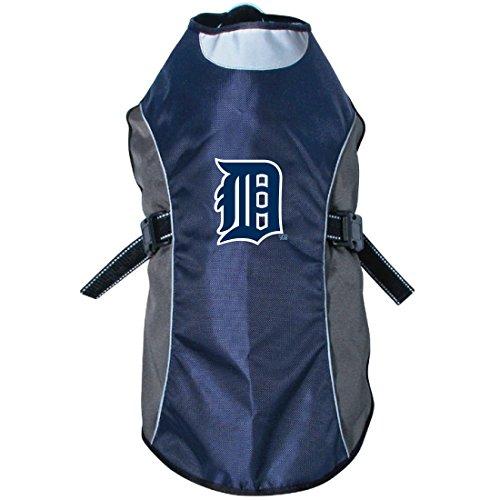MLB Detroit Tigers Hunter Reflective Pet Jacket, X-Small, Black or Navy