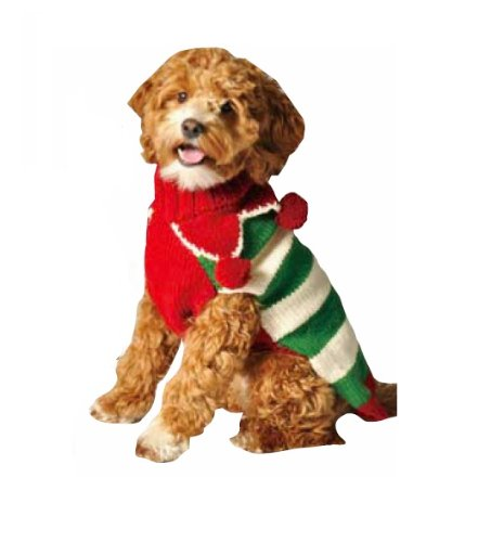 Chilly Dog Christmas Elf Dog Sweater, XX-Small by Chilly Dog
