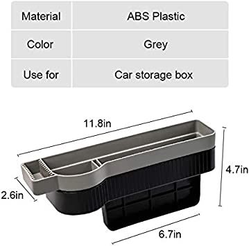 MOCOHANA Gap Filler Organizer Car Seat Catcher Slot Storage Box Auto Side Pocket Holder Removable Washable 2 Layers Purple Left