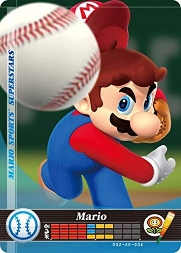 Nintendo Mario Sports Superstars Amiibo Card Baseball Mario for Nintendo Switch, Wii U, and 3DS