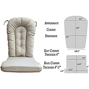 glider rocker replacement cushion set natural fabric