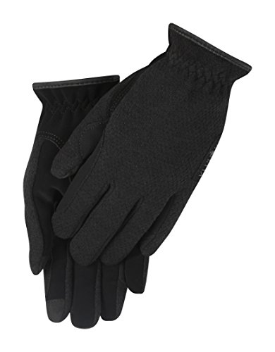 Kerrits Gloves (Kerrits Stable Knit Glove Black Size: Extra Large)