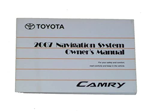 2007 toyota camry navigation owners manual oem toyota amazon com rh amazon com 1996 Toyota Camry Repair Manual 1996 Toyota Camry Repair Manual