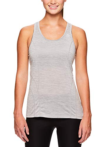 Reebok Women's Dynamic Fitted Performance Racerback Tank Top - Silver Sconce Heather, Small by Reebok (Image #1)