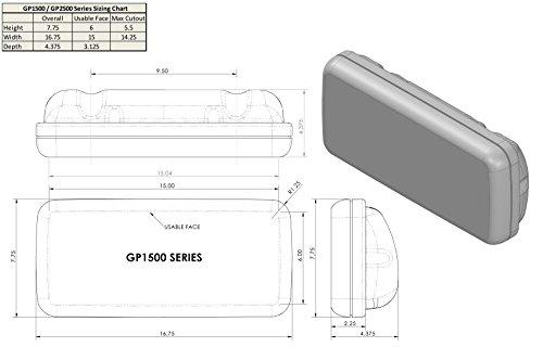 NavPod GP1511 SystemPod Pre-Cut for Garmin GPSMAP  7407/7407xsv/7607/7607xsv/720/721/740/740s/741/721xs/ echoMAP 70s/70dv and  1 inst  (3 6