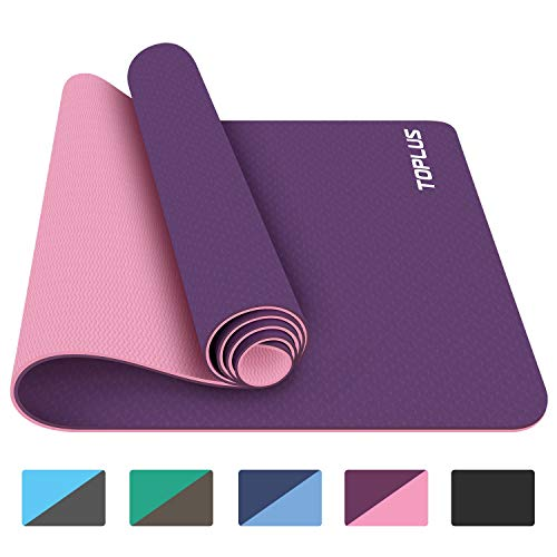 TOPLUS Yoga Mat, 1/4 inch Pro Yoga Mat TPE Eco Friendly Non