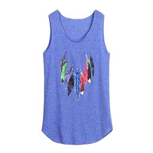 c5ffaa28a858f Vêtement Fashion Shirt Veste Tank Mode Blouse Gilet Plume Débardeur Sexy  DAY8 Chemise Grande Casual Chic Femme 2018 Femme Bleu Haut Tee Été Taille  ...