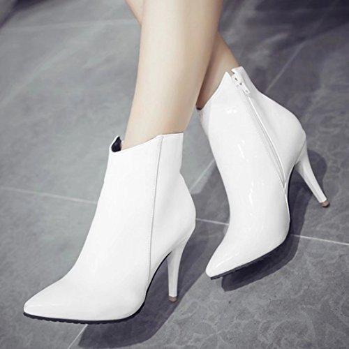 Classic AIYOUMEI Women's Women's AIYOUMEI White Boot qn81Hn