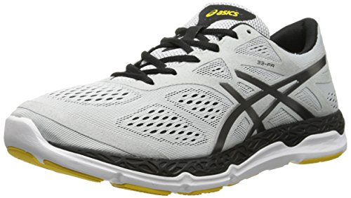 Free ASICS Men's 33-FA Running Shoe, Cloud/Titanium/Yellow, 9.5 M US