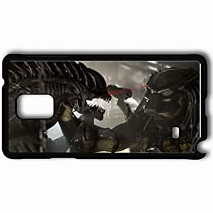Personalized Samsung Note 4 Cell phone Case/Cover Skin Aliens Vs Predator Requiem Black by icecream design