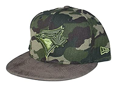Toronto Blue Jays New Era Suede Bill Snapback Adjustable One Size Fits Most Hat Cap - Camouflage by New Era Cap Company, Inc.