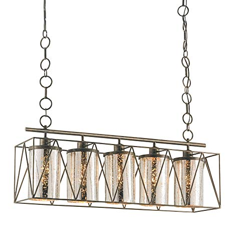 Currey and Company 9564 Marmande - Five Light Rectangular Chandelier, Cupertino ()