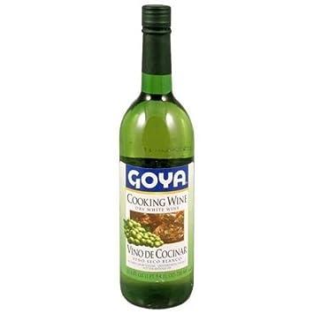 Goya Dry White Cooking Wine (Vino Seco Blanco) 25.4 Oz (Pack Of 12