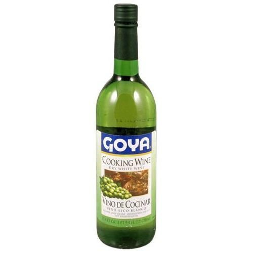 Goya Dry White Cooking Wine (Vino Seco Blanco) 25.4 Oz (Pack Of 12)