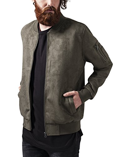 Urban Giacca Suede Uomo Imitation Jacket Bomber Classics olive Grün 176 XYrqwX