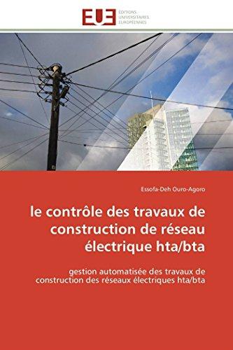 le contrôle des travaux de construction de réseau
