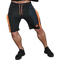Hombres de la UE Gimnasio Pantalones Cortos corto de running pantalones Bodybuilding Jogger con bolsillos
