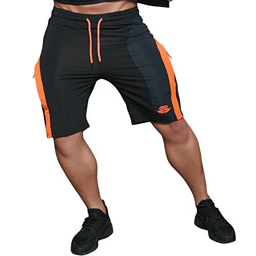 EU Men's Fitness Gym Workout Running Bodybuilding Shorts With Pockets