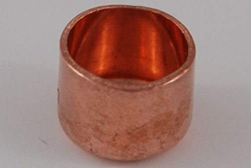 Kappe 15 mm / 5301 (VE 5 Stk) Kupfer Fitting Lö tfitting CU, 5 Stü ck, copper fitting, zum Lö ten, Rohrverbinder kupferking
