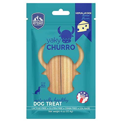 yakyChurro Himalaya Cheese Treats | Lactose Free | Gluten Free | Grain Free | Made in USA | For All Breeds | Cheese Flavor