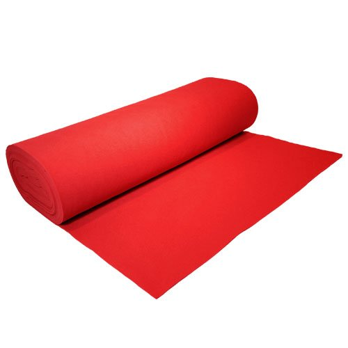 Acrylic Felt by the Yard 72'' Wide X 2 YD Long: Red by The Felt Store