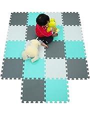qqpp EVA Puzzle Tapis Mousse Bebe - Idéal pour Les Tapis De Jeux Enfant. Tapis de Sol pour bébé avec Douze Combinaisons de Couleurs.
