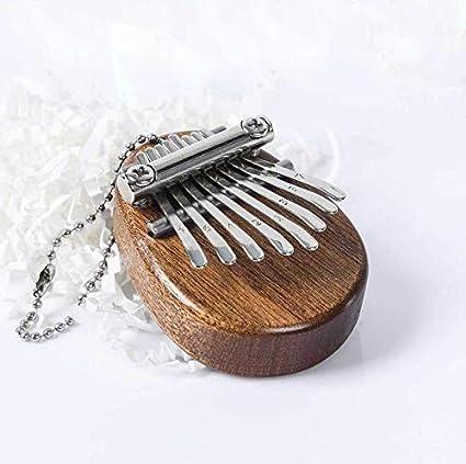 Gogomore Mini Thumb Piano 8 Keys Thumb Piano Marimbas Musical Instrument for Kids and Adults Beginners SAPELE DROP SHAPE