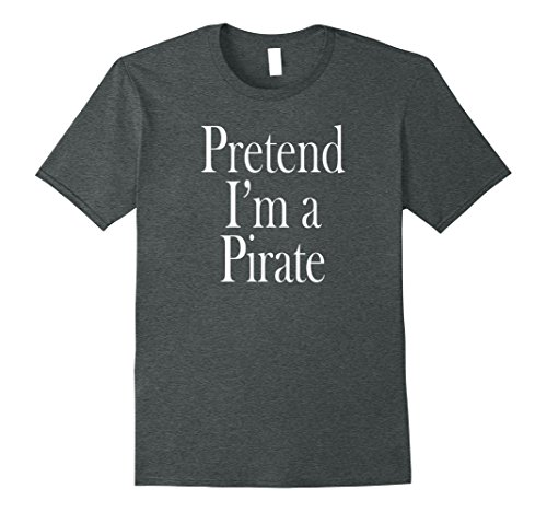Mens Pirate Costume T-Shirt for the Last Minute Party Small Dark Heather