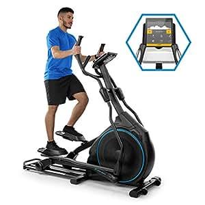 CAPITAL SPORTS Helix Star DR bicicleta elíptica obital - Bici elíptica , Compatible con Kinomap , Bluetooth , Volante de inercia de 27 kg , 32 niveles de resistencia , Pulsómetro , Ordenador , Negro