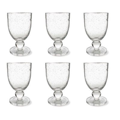 Bubble Clear Glass (Tag Bubble Glass Goblet, Clear, 6 Count)