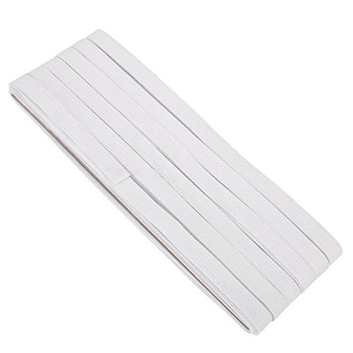 - Shappy 1/ 2 Inch Wide Sewing Elastic Knit Elastic Spool, 22 Yards (White)
