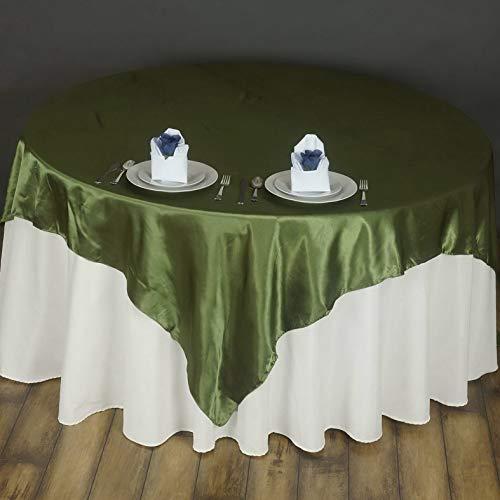 Mikash 72x72 Square Satin Overlay Wedding Party Banquet Decoration 20+ Colors! | Model WDDNGDCRTN - 19440 ()